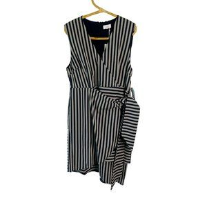 Willa Plus Size 18 Blue White Stripe Dress New With Tags